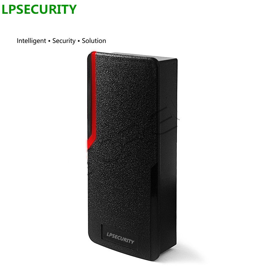LPSECURITY otudoor waterproof WG26 IC or ID EM RFID access control proximity card reader 125KHZ or 13.56MHz slave tag reader<br>