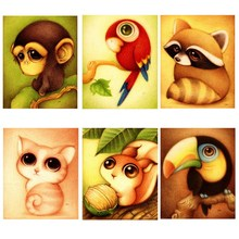 Diamond Embroidery Child Cartoon Animal Diamond Painting Needlework Cross Stitch Sticker  Embroidery Crafts Decor