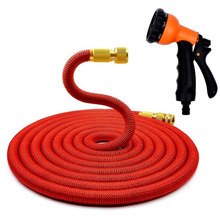 * 1 Set Multifunctional Expandable Garden Hose Water Hose With Sprayer EU US Latex Tube Magic Flexible Hoses 50FT 75FT 100FT(China)