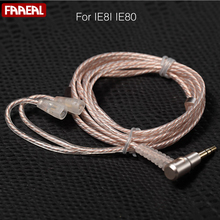FAAEAL New 4-core Silver-plated wire & 4-core OFC wire mixed twisted Replace Line Upgrade line DIY Earphone Cable For IE8I IE80