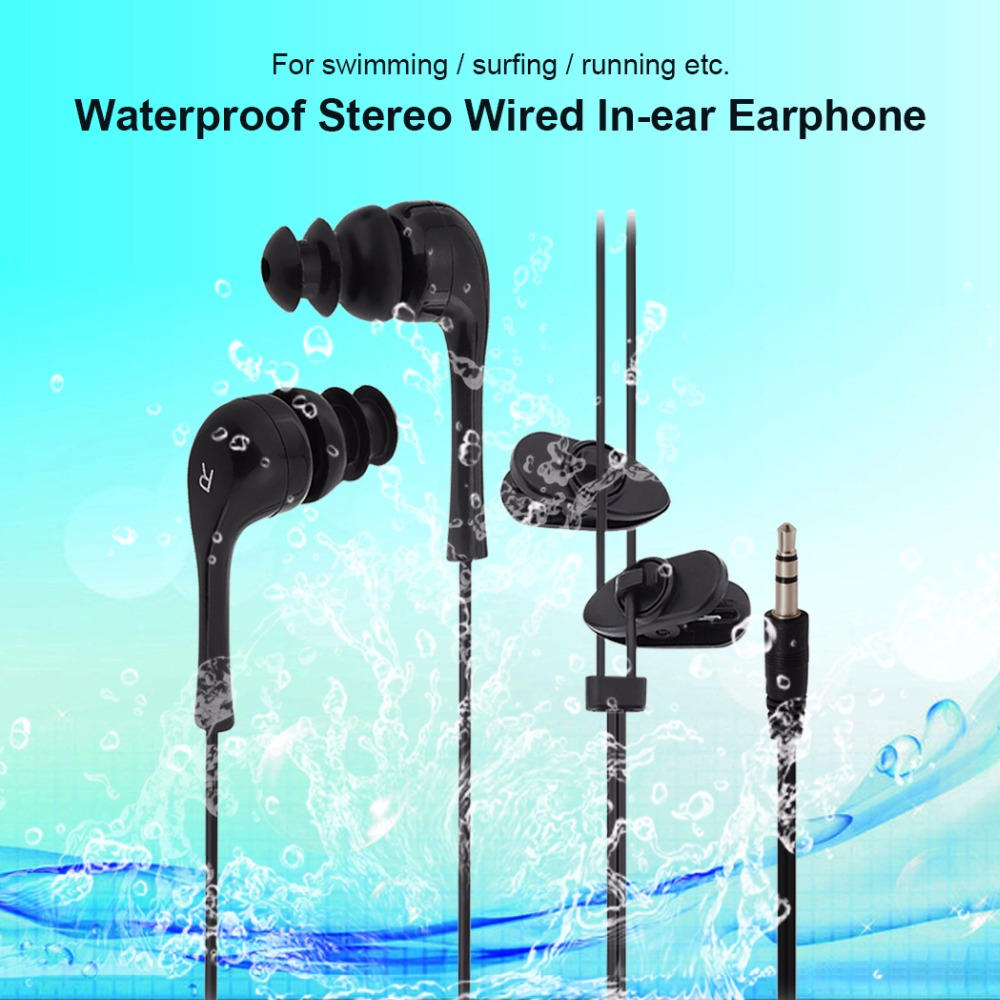 Hangrui Waterproof Swimming Earphone In-ear Headset Stereo For MP3 MP4 Most Smart Cell Phone