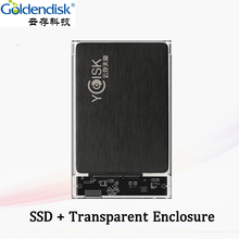Goldendisk YCdisk Serial 2.5 SSD 256 GB SATA III Solid State Drives 240gb SATA 6Gbps hard disks SSD + Transparent Enlcosure(China)