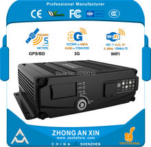 4 Channel GPS 3G EVDO Wifi real time Full HD 720P AHD Dual SD Card Vehicle Mini Mobile DVR Car MDVR(China)