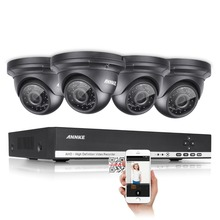 ANNKE 4CH 960H HD CCTV System 4pcs 720P weatherproof indoor outdoor Security Cameras 4 channels Home Video Surveillance kit