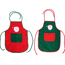 1PC Cute Christmas Decoration Gifts XMAS Red Green Santa Claus Tablier Adult Apron Bartender Apron Party New Year Ornaments