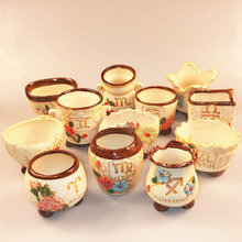 Creative retro constellation ceramic pots  Office exquisite small pots