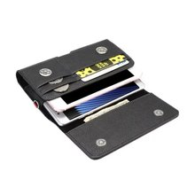 Horizontal Man Strap Belt Clip Dual Mobile Phone Leather Case Card Pouch For LG G4 Stylus LS770,G Stylo (CDMA),G Vista 2 K10 K8