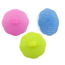 2 Pcs Plastic Hair Wash Brush Comb Transparent Pet Wash Comb Salon Use Hair Cleaning Brush Head Messager Comb In Low Price