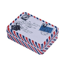 DIVV Creative Postcard Pattern Storage Box Home Jewelry Candy Coin Box Tin Organizer Decor Kit Drop Shipping Happy Sale ap704