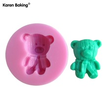 1PCS Lovely Bear Shape Chocolate Candy Jello 3D Silicone Mold Cartoon Figure/Cake Tools Soap Mold Sugar CraftCake DecorationC091