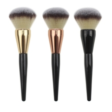 Fashion 1 pc Face Makeup Brush Large Blusher Powder Brushes Black Handle With Piano Paint Process PRO Makeup Tool(China)