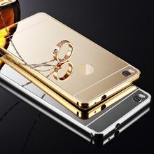 EDAL New Aluminum Metal Bumper Case PC Back Cover For HUAWEI P8 / P8 Lite / Various Huawei(China)