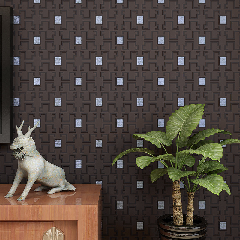 Simple plain non - woven wallpaper modern Chinese warm living room bedroom background Chinese wind wallpaper<br><br>Aliexpress