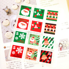 Color Christmas Stamps Design gift seal label stickers for Handmade Product Party Favor Gift Bag Candy Box Decor
