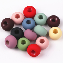 Buy 14MM Mixed Color Acrylic Big Hole Loose Beads Charms Fit Charms Jewelry Bracelet Findings 50pcs/lot for $5.58 in AliExpress store