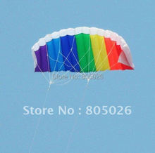free shipping dual line parafoil kite flying tools line power braid sailing kitesurf rainbow outdoor toys sports beach weifang