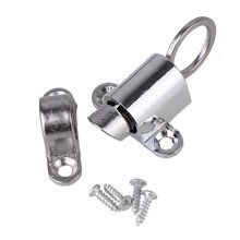 Silver Household Office Security Spring Slide Bolt Zinc Alloy Window Door Latch Lock Self Closing