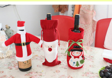 New arrival Christmas decorations For home Creative DIY Santa Claus bottle sets  Hot Sale Gift for Children