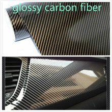 Buy 400mmX1520mm Waterproof DIY Car Sticker Car Styling 2D Thicken 3M Car Carbon Fiber Vinyl Wrapping Film Retail Packaging for $9.05 in AliExpress store