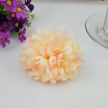 100pcs 10cm/3.93' 9Colors Artificial Chrysanthemum Daisy Flower Heads DIY Arch Wedding Wall Flower Ball Hat Hair Accessoires