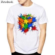 Venta caliente 2018 verano Rubik Cube camiseta hombres mujeres nueva moda  elegante diseño t-shirt 90d2f6cd42d