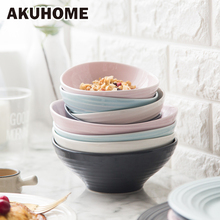 AKUHOME European Cuisine 4 Colors Ceramic Western Thread Rice Fruit Bowl Home Side Bowl Western Style Dessert Bowl(China)