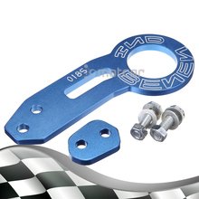 Blue Universal Aluminum Car Auto Racing Trailer Ring Tow Hook Eye Tow Car Screwon Towing Bars For Most Car Auto Trailer Ring(China)