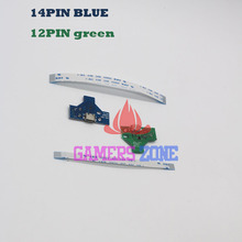 20sets JDS-001 JDS-011  12pin & 14pin LED Power Board with flex Ribbon Cable for Sony PS4 Controller Charging Board