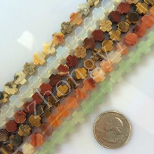 Crazy Onyx Opal Rainbow stone Tiger eye Natural stone Cross Beads 8*8mm DIY for New Fashion Bracelet Necklace Free shipping(China)