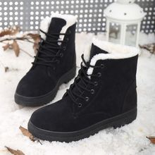 Snow boots winter ankle boots women shoes plus size shoes 2017 fashion heels winter Boots fashion fur boots