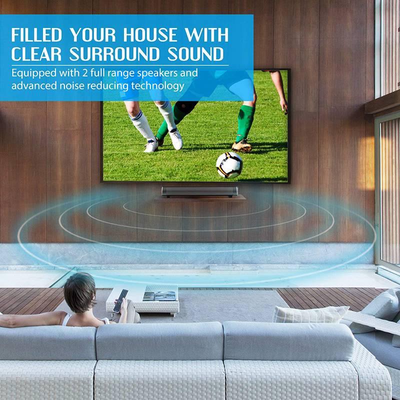 VTIN Wireless Bluetooth Speaker 4.2 SoundBar Remote Control TF Card TV Cellphone Tablet Surround Sound System TV Speaker Golden (14)