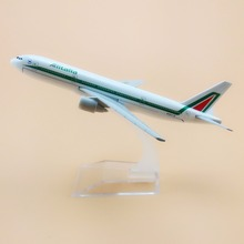 16cm Alloy Metal Italian Air Alitalia B777 Airlines Boeing 777 Airways Airplane Model Plane Model W Stand Aircraft Gift(China)