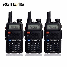 3pcs Handheld Walkie Talkie Retevis RT-5R 5W 128CH Dual Band VHF UHF Radio VOX Two Way Radio Portable Ham Radio Comunicador(China)
