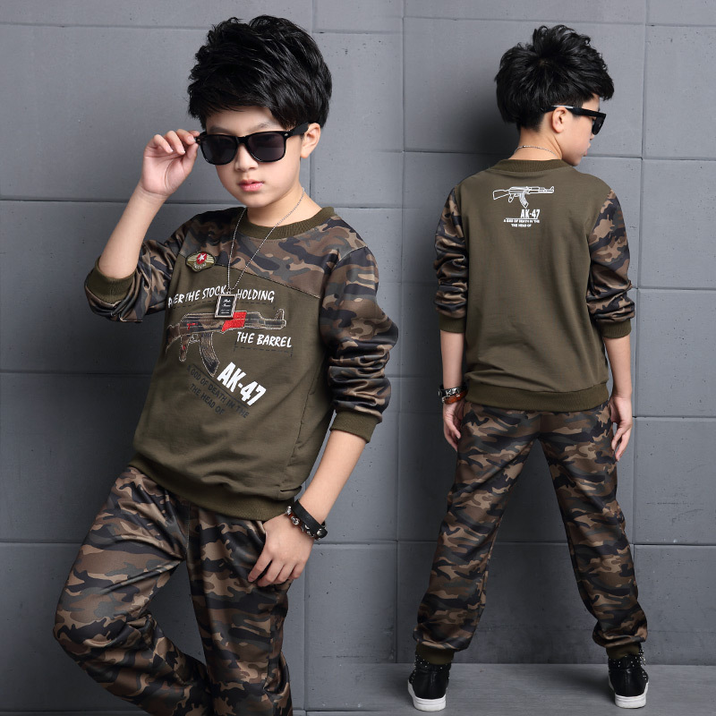 Autumn Boys Camouflage Clothes Kids Jacket+Pants Childrens Clothing Sets Fashion Child Sports Suits Boy Camouflage Clothes<br><br>Aliexpress