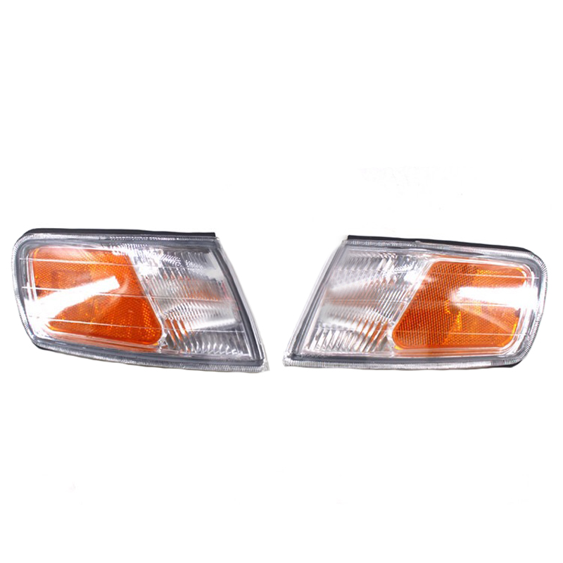 JEAZEA 2PCS Left + Right Front Turn Signal Lamp Front Marker Light Corner Lamp For Honda Accord 34351-SV4-A02 34301-SV4-A02<br>