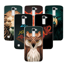 Buy Coque LG K8 Case Cover Attractive Fashion Lion fox Painting Back Protector LG K8 LTE K350E K350N Hard Plastic Phone Case for $1.46 in AliExpress store