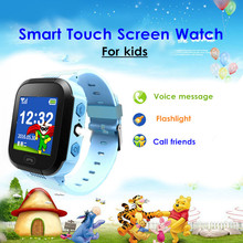 KINCO Kids GPS SMS Phone Call SOS Smart Watch 1.44 inch Bluetooth SIM Remote Control Safe Anti-lost Bracelet for IOS/Android(China)