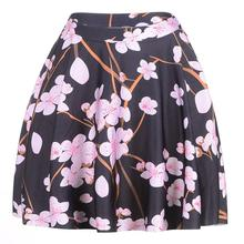 Popular Flowers Women Sexy Pleated Skirts Tennis Bowling Bust Shorts Skirts Pink Flowers Female Fitness Sport Apparel A Style
