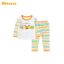 Hehuayu Children Pajamas Sets for Girls Boys Long-sleeve Basic Shirt+Pant 2pcs Cartoon Tracksuits Soft Cotton Underwear SAS-9572(China)
