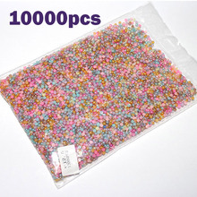 Bluezoo 10000pcs Mixed Colors Half Pearls For Nails Round Glitter Beads Flat back Nail Art Decoration Nail Beauty Accessories
