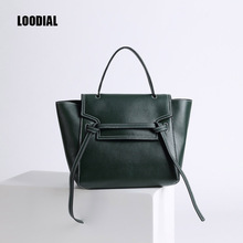 Loodial brand leather handbags italian famous bag designers famous bag luxury women high quality vintage leather totes handbag(China)