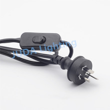 Australian standard 3-pin plug with button switch cable power wire cord canle wire for table lamp Lighting Accessories(China)