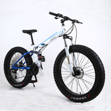 Russian warehouse and Wholesale 26 inch and 7 speeds Thick wheel SNOW bike and mountain FOLDING Bicycle