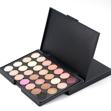 Useful 28 Color Natural Pigment Matte Eyeshadow Palette + Brush Long Lasting Cosmetic Eye Shadow Set Make Up V2