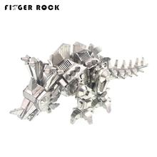 DIY Assembly Metal 3D Puzzle Dinosaur Locke Model Kids Stainless Steel Laser Cutting Animals Jigsaw Toys Juguetes Educativos(China)