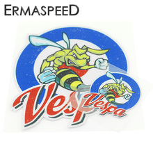 Motorcycle Vespa Helmet Sticker Blue Ring Bee Round Smart Logo Decals 3 size Waterproof Anti-scratch Stickers for Piaggio Yamaha