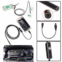 USB Camera Android Endoscope  5.5 mm Diameter 3.5M 6 LED Endoscope IP67 Waterproof Android Inspection Borescope Tube Pipe Camera