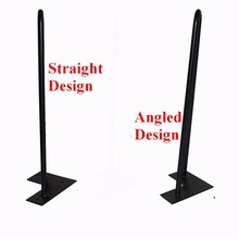 "12"" angled hairpin legs - matte black - 1/2"" steel rod - set of 4 - Coffee Table Legs, teapoy legs, metal bed feet"