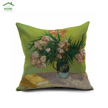 2016 Behome High quality Vibrant plant flowers and birds cotton linen pillowcases linen cushion cover manufacturers wholesale(China)