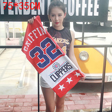 NBA towel Clippers Griffin Red Hip Hop Hip-Hop Tide Sports Fitness Basketball Leisure Towel bath towel